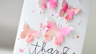 Watercolor Butterflies Card | Kalyn Kepner for Paper Smooches