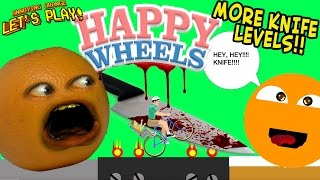 Annoying Orange Plays HAPPY WHEELS: MORE Knife Levels!!