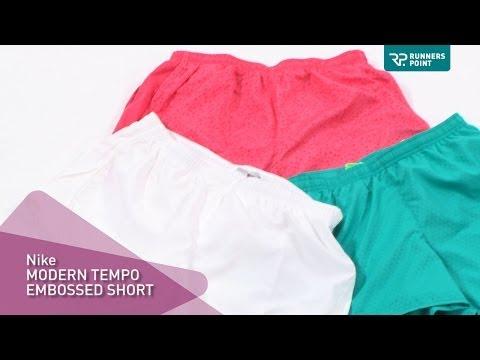 Damen Laufhose Nike Modern Tempo Embossed Short