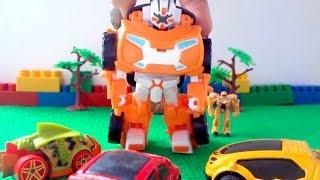Тоботы - Трансформеры. Игрушечные машинки собирают Тобота X. Видео с игрушками
