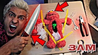DO NOT CUT OPEN HAUNTED ELMO DOLL AT 3AM!! *OMG WHAT
