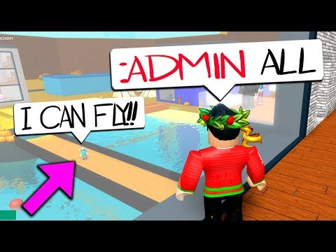 NEW OWNER GAVE ME ADMIN COMMANDS!! (Roblox Life In Paradise