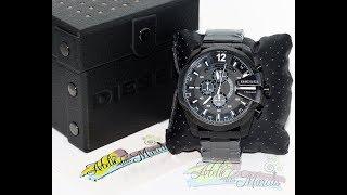 61365365a96 Relógio Diesel Mega Chief DZ4283 Black Masculino Original