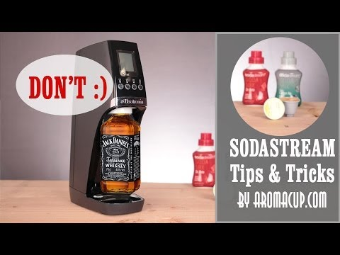 10 Sodastream Tips and Tricks. Bonus Tip: Don't try to fizz Jack Daniels with this Home Soda Maker