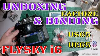 Eachine US65 65mm Whoop FPV Racing Drone Crazybee F3 Flight Controller OSD 6A Blheli_S Flysky RTF