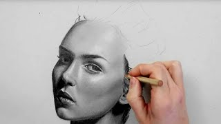 How To Draw/shade A Realistic Face Part 1 | Step By Step Drawing Tutorial