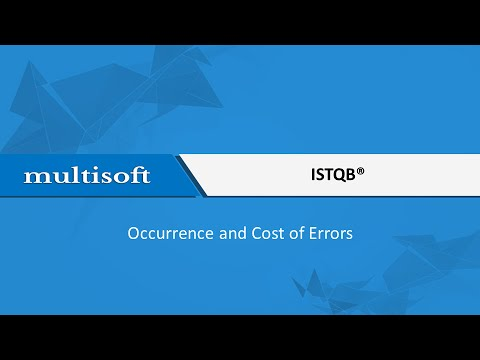 ISTQB How errors occur and cost of errors? Training
