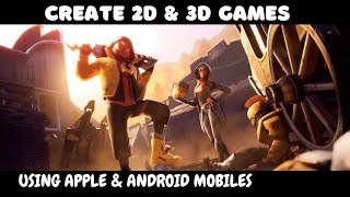 How to create games for android   How to develop games like free fire & pubg  How to create 3D games