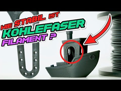 KOHLEFASER 3D-DRUCKEN - [Einstellungen + Bruchtest]