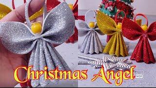 DIY:Christmas Angel | Christmas Tree Decorations From Foamiran | Christmas Ornaments DIY | X-mas2019