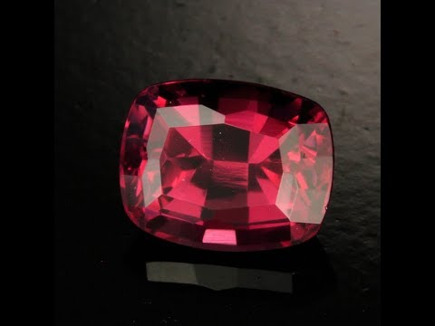Rhodolite Garnet Antique Cushion Cut 2.64 Carats