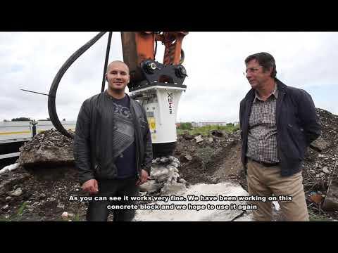 Vertical Cutter Excavator Attachment