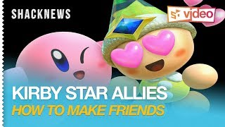 Kirby Star Allies Gameplay - How to Make Friends