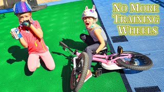 Madison Takes a Tumble! First Time Without Training Wheels!!
