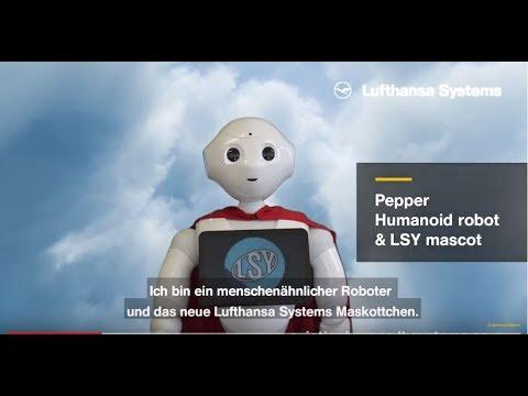 Eingebettetes Video for Pepper, Roboter & LSY-Maskottchen