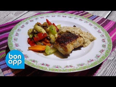 Обжаренная курица с лимоном и розмарином и обжаренные овощи - Оригинальные рецепты