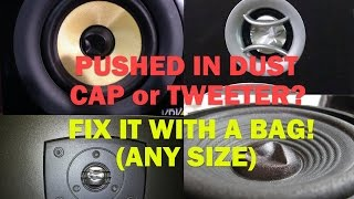 Fix ANY Dented Dust Cap WITH A BAG! Any Size