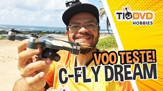 DRONE C-FLY DREAM BOM E BARATO COM GIMBAL CAMERA HD GPS BRUSHLESS CLONE DJI SPARK JJRC X9 HERON X9P