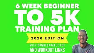 6 Week 'Beginner to 5k' Training Plan (2021 update - downloadable pdf)