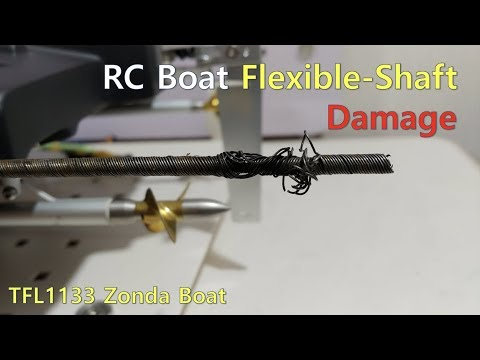 RC boat Flexible shaft