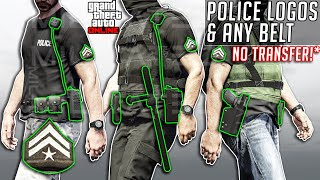 GTA 5 Online Get Police Logos + ANY belt NO TRANSFER After Patch 1.52 Clothing Glitches Not Modded