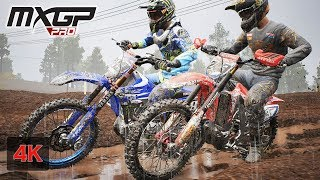 MXGP PRO 4K Gameplay RAIN Onboard Race at Leon Mexico - Tim Gajser - Stage # 1