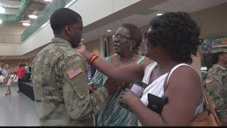 South Carolina Soldiers Deploying Overseas Say Goodbye To Families