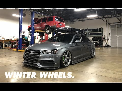 Installing Winter Wheels/Tires on my Audi!!