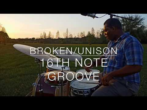 Grooving on a broken/unison 16th note kinda thing.