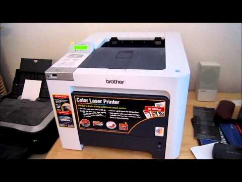 Brother HL4040CDN Color Laser Printer Demo and Review