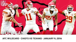 2015 AFC Wild Card Playoffs: Chiefs vs. Texans | NFL Full Game