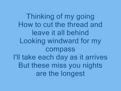 Cliff Richard: Miss You Nights- with lyrics -