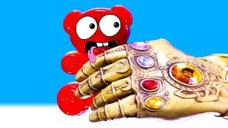 Die Hand des Thanos jagt Lucky Bär