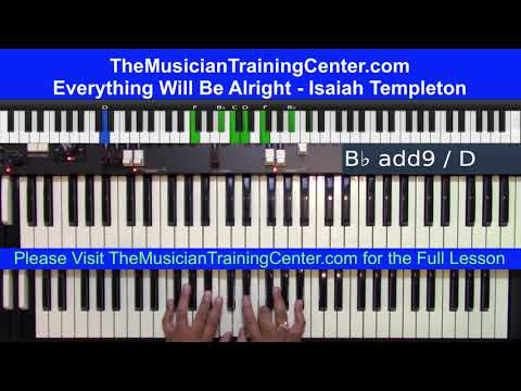 "Organ Tutorial: How to Play ""Everything Will Be Alright"" by Isaiah Templeton"