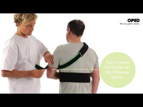 Warum in wunden Arm im Schultergelenk