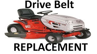 Riding Lawn Mower Cutting Deck Belt Replacement Instructions - Most