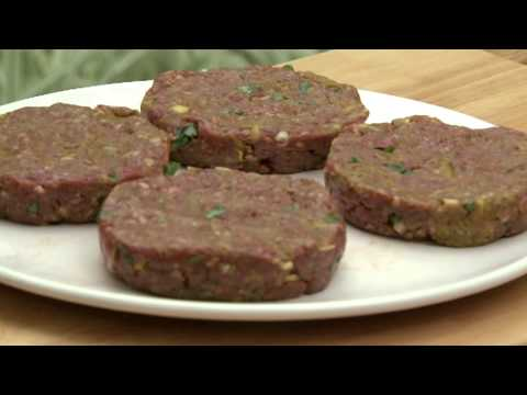 Asian spiced burgers with mango salsa