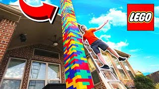 BUILDING WORLD'S TALLEST LEGO TOWER 2! (100+ FT)