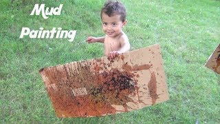 Mud Painting DIY Art Project: Fun Summer Activities For Kids