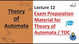 Lecture 12: Exam Material for theory of automata | theory of computation lectures in hindi TOC