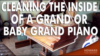 Cleaning the Inside of a Grand or Baby Grand Piano