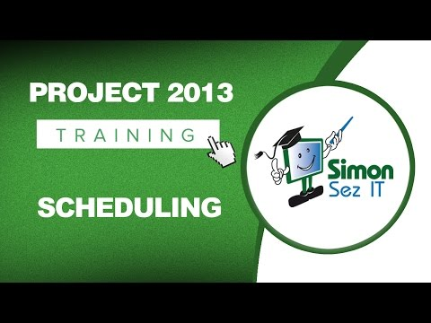 Microsoft Project 2013 Tutorial - Scheduling - YouTube