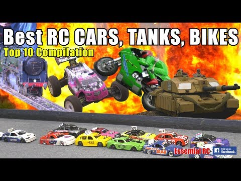 Best TOP 10 Radio Controlled (RC) CARS, TANKS And BIKES Compilation