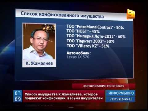 Суд огласил список имущества К.Жамалиева, подлежащего конфискации