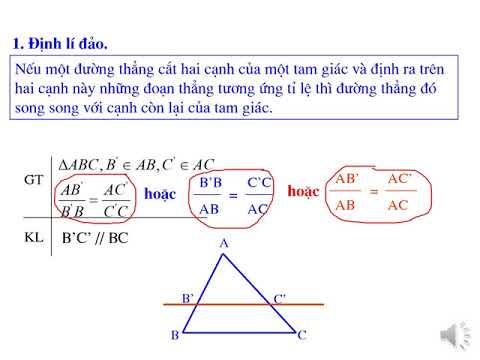 Toán Lớp 8: Bài Định Lý TALET (Tiếp theo)