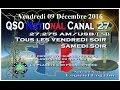 Vendredi 09 Décembre 2016 QSO National du canal 27