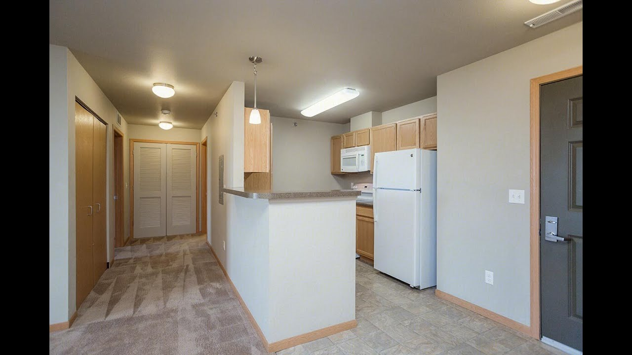 One Bedroom, One Bath Floorplan (1 Bed, 1 Bath) | Glacier Place Apartments  In Laramie, Wyoming | Highland Property Management