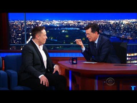 Here's How Elon Musk Described Terraforming Mars To Stephen Colbert