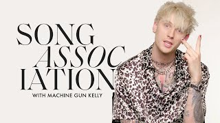 "Machine Gun Kelly Raps ""el Diablo,"" 50 Cent, and Busta Rhymes in a Game of Song Association 