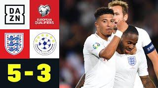 Kosovo-Führung, Kane-Verballerer und Sancho-Doppel-Knaller: In Southampton war was los. England schüttelt seinen engsten Verfolger Kosovo in Gruppe A ab und bleibt im 43 Qualifikationsspiel in Folge ungeschlagen. Für den Kosovo reißt hingegen eine Serie: 15 Spiele in Folge konnten sie bis zur England-Niederlage gewinnen.  ►Sichere dir deinen Gratismonat: https://bit.ly/2jtuUkk ►Das Programm von DAZN: http://bit.ly/2uFkulD  ►DAZN auch auf Facebook: https://bit.ly/2lUGipo  +++ Die besten Fußball Highlights aus allen Wettbewerben auf YouTube +++ ►DAZN UEFA Champions League auf YouTube abonnieren: https://bit.ly/2WL75qD  ►DAZN UEFA Europa League auf YouTube abonnieren: https://bit.ly/2DTc8yb  ►DAZN Bundesliga auf YouTube abonnieren: https://bit.ly/2Daw8dS  ►DAZN Länderspiele auf YouTube abonnieren: https://bit.ly/2XAYNSd ►DAZN FA Cup & Carabao Cup auf YouTube abonnieren: https://bit.ly/2vlL9nj ►Goal auf YouTube abonnieren: https://bit.ly/2Bk4H0Y   +++ Die besten Sport Highlights auf YouTube +++ ►DAZN Tennis auf YouTube abonnieren: https://bit.ly/2DblEuK  ►DAZN Darts auf YouTube abonnieren: https://bit.ly/2ScVbqU    ►SPOX auf YouTube abonnieren: https://bit.ly/2MPaQqI   Erlebe tausende Sportevents in HD-Qualität auf allen Geräten. Auf DAZN gibt's europäischen Top-Fußball mit UEFA Champions League, UEFA Europa League, Bundesliga-Highlights, La Liga, der Serie A und Ligue 1 sowie den besten US-Sport aus NFL, NBA, MLB und NHL. Dazu: Fight Sports, Darts, Tennis, Hockey und vieles mehr - wann und wo du willst.  ERLEBE DEINEN SPORT LIVE UND AUF ABRUF. AUF ALLEN GERÄTEN.  +++ Über DAZN +++ DAZN ist ein Livesport-Streamingdienst, der es Fans erlaubt, Sport so zu erleben, wie sie es möchten. Egal ob live zu Hause, unterwegs, zeitversetzt oder im Rückblick, DAZN bietet über 8.000 Sportübertragungen pro Jahr und beinhaltet damit das umfangreichste Sportangebot, das es jemals bei einem einzelnen Anbieter gegeben hat.  DAZN bietet einen Gratismonat, kostet danach 11,99 EUR monatlich 